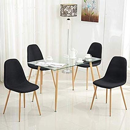 Amazon.com - Mecor 5 Piece Kitchen Dining Table Set Glass Top Table