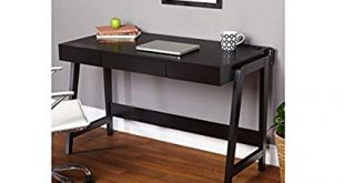 Black Modern Small Corner Computer Desk Is a Perfect Writing Desks for Small  Spaces. Our