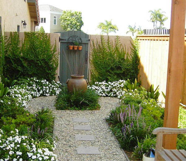 Garden ideas, Landscaping ideas, Contemporary Garden, Small garden, Urban  Backyard, Mediterranean