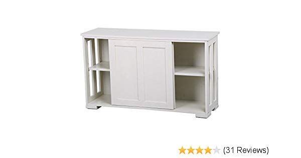 Traveller Location - Yaheetech Antique White Buffet Cabinet Kitchen Table with  Sliding Door Stackable Sideboard Storage Cabinet - Buffets & Sideboards