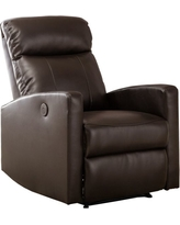 IMPACT_RAD. AC Pacific. Sean Modern Leather Infused Small Power Reading  Recliner