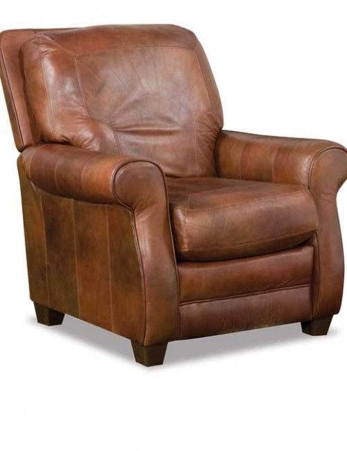 Small brown leather recliners