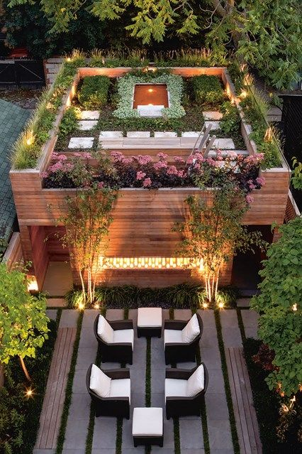 Elaborate Roof Garden Complex. Balcony & Rooftop Gardens in Small City Garden  Design Ideas. Discover how to inject some greenery into your small rooftop