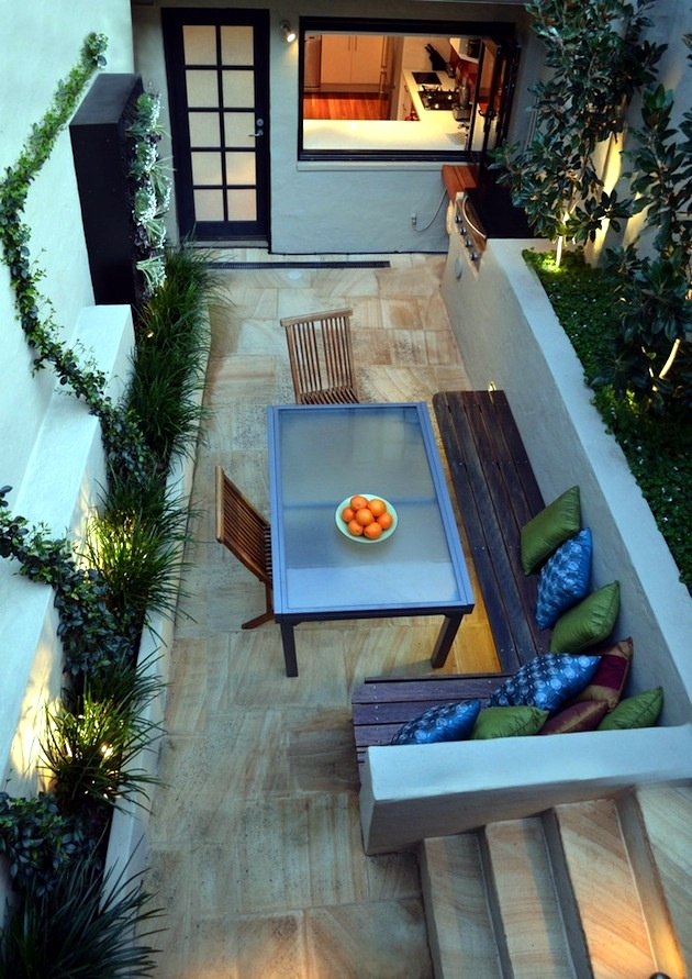 100 design ideas for patios, roof terraces and balconies. covered terrace  and curtains