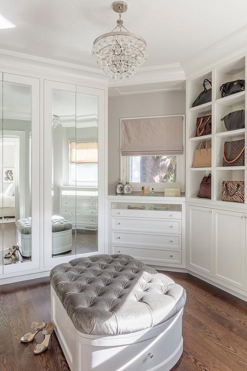 Elegant walk-in closet