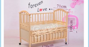 Pine wood baby cot bed with small cradle inside | baby furniture
