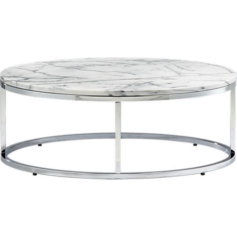 smart round marble top coffee table in accent tables | CB2