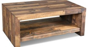 Fulton Rustic Solid Wood Coffee Table - Contemporary - Coffee Tables - by  Crafters and Weavers