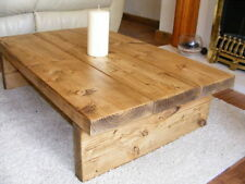 COFFEE TABLE, RUSTIC CHUNKY,HANDMADE,SOLID WOOD