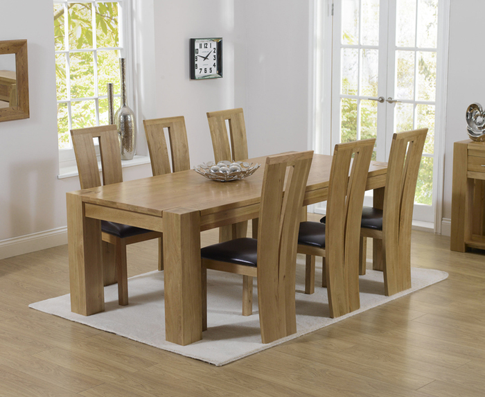 1. Dining Room Solid Oak Dining Table And 6 Chairs Oak Table And