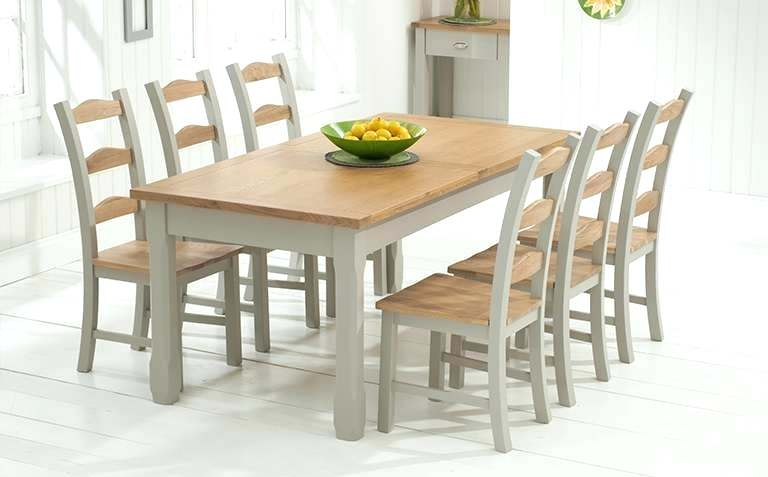 Solid Oak Dining Table And 6 Chairs Custom Delivery Rustic Round
