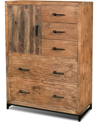 Atwood Rustic Distressed Solid Wood Chest of Drawers, Dresser