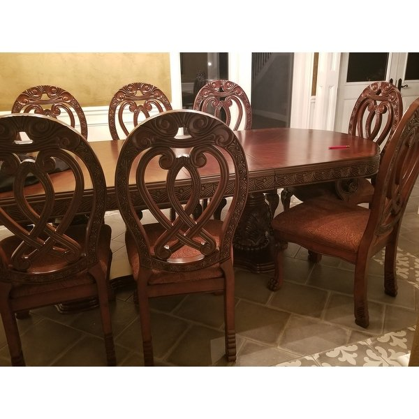 Shop Furniture of America Beaufort Solid Wood Formal 9-Piece Dining Set -  Free Shipping Today - Traveller Location - 9828320