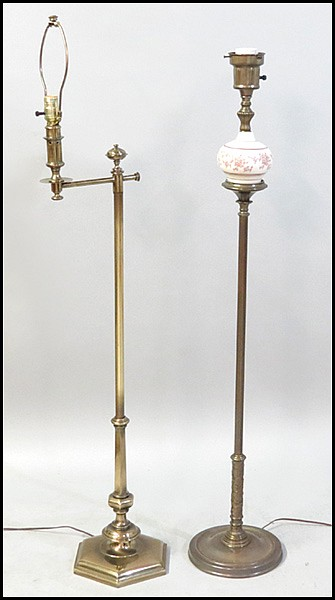 Lot 1361099: A STIFFEL BRASS FLOOR LAMP.
