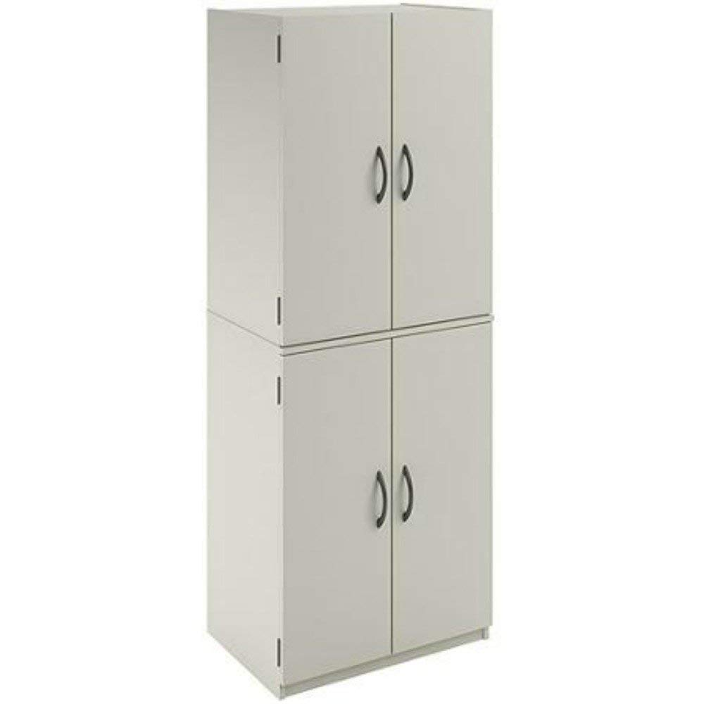 Traveller Location: Mainstays Tall Storage Cabinet, 4 Door, (White): Home & Kitchen