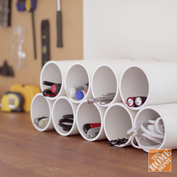 5 Clever and Affordable Storage Ideas: PVC Pipe to Organize Cords and Other  Items