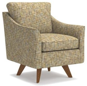 La-Z-Boy Chairs Reegan Swivel Chair with Splayed Wood Legs and Premier  ComfortCore Cushion | HomeWorld Furniture | Upholstered Chairs