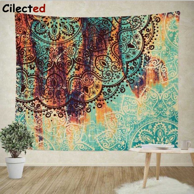 Cilected Bohemian Mandala Tapestry Wall Hanging Indian Wall Decor Hippie  Tapestries Throw Sheet Coverlet Cotton Beach Yoga Mat