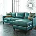 Unique modern teal leather sectional sofa   for you