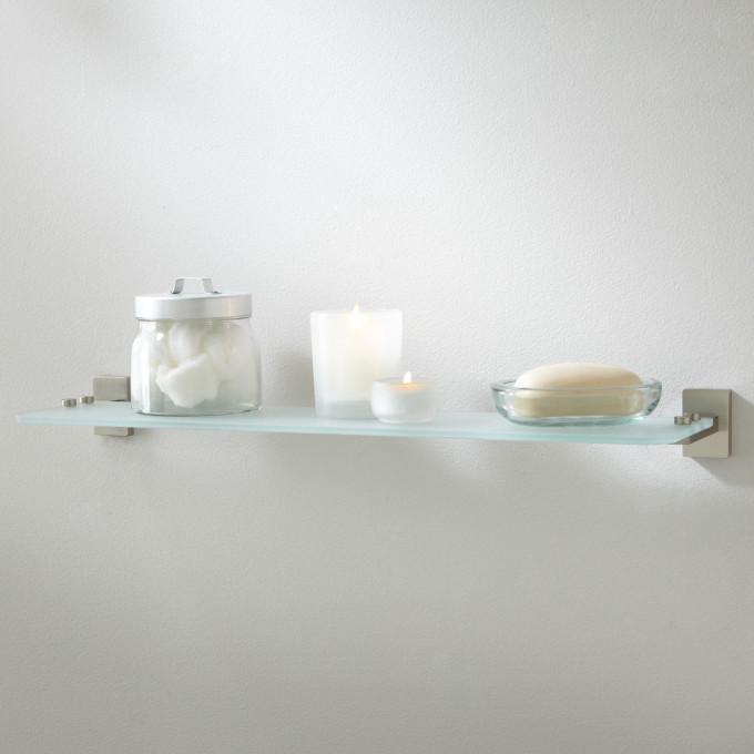 Helsinki Tempered Glass Shelf Bathroom glass shower shelf bunnings