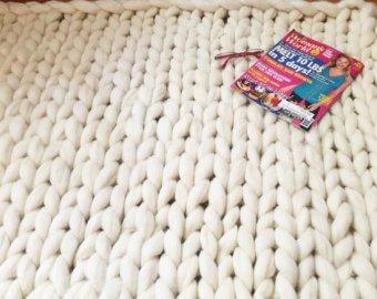 Rug, Carpet,Chunky Knit rug, Merino Wool Rug, Chunky Merino Rug, Giant  Knit, Thick carpet
