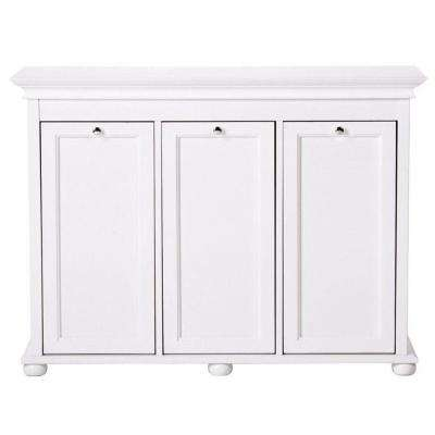 Triple Tilt-Out Hamper in White