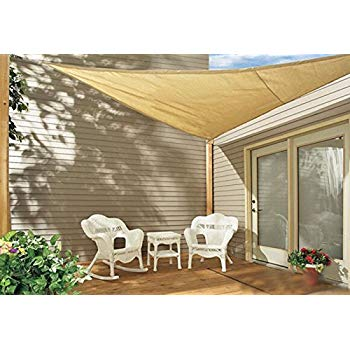 Sol Maya Triangle Patio Sun Shade Sail - Sand Color Available in Multiple  Sizes (11.5