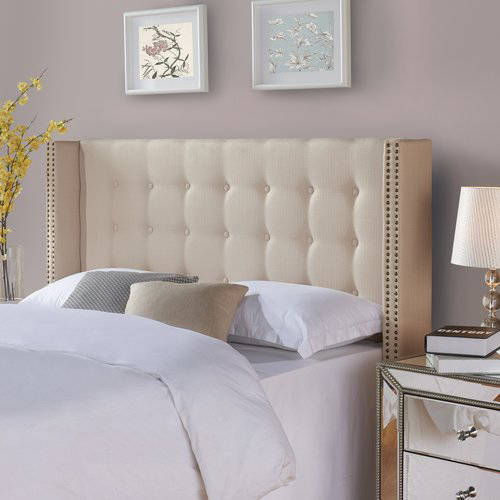 Better Homes and Gardens Wingback Tufted Upholstered Headboard King/Cal King  Ricepaper - Traveller Location