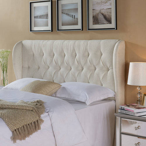 Better Homes and Gardens Scalloped Wingback Tufted Upholstered Headboard  King/Cal Sand - Traveller Location