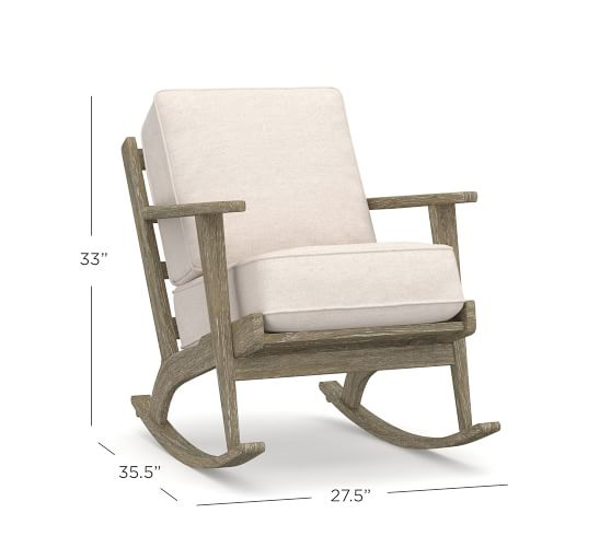 Raylan Upholstered Rocking Chair | Pottery Barn