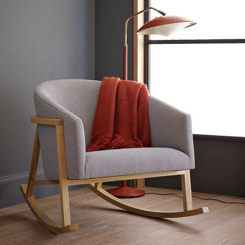 baby nursery modern upholstered rocking chair