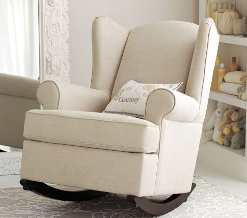 pb kids upholstered rocking chair for baby nursery furniture