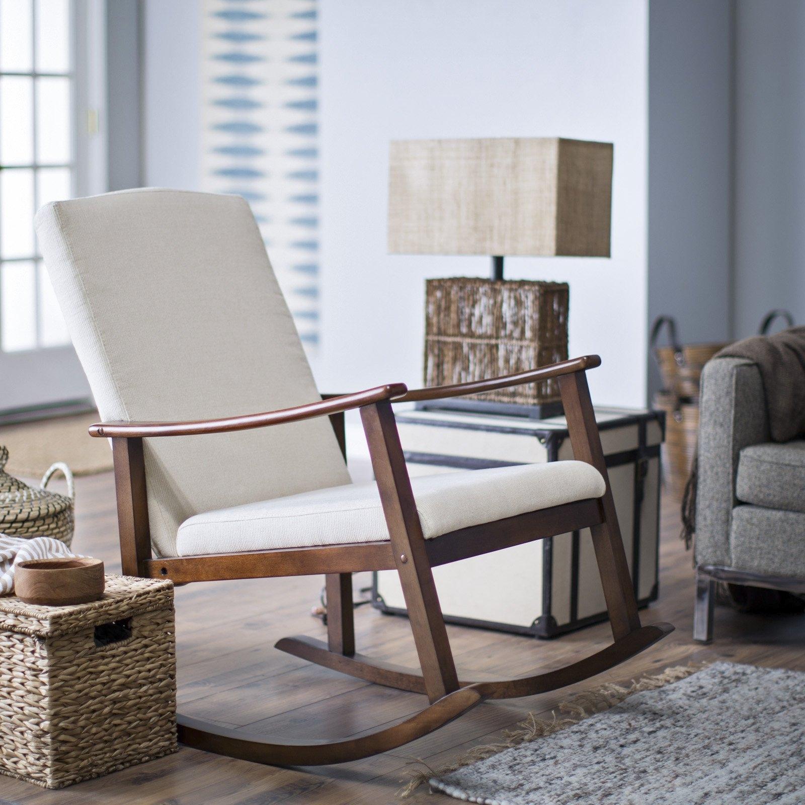 Best Upholstered Rocking Chair For Nursery Editeestrela Design With  Wonderful White Rocking Chair For Nursery Wonderful