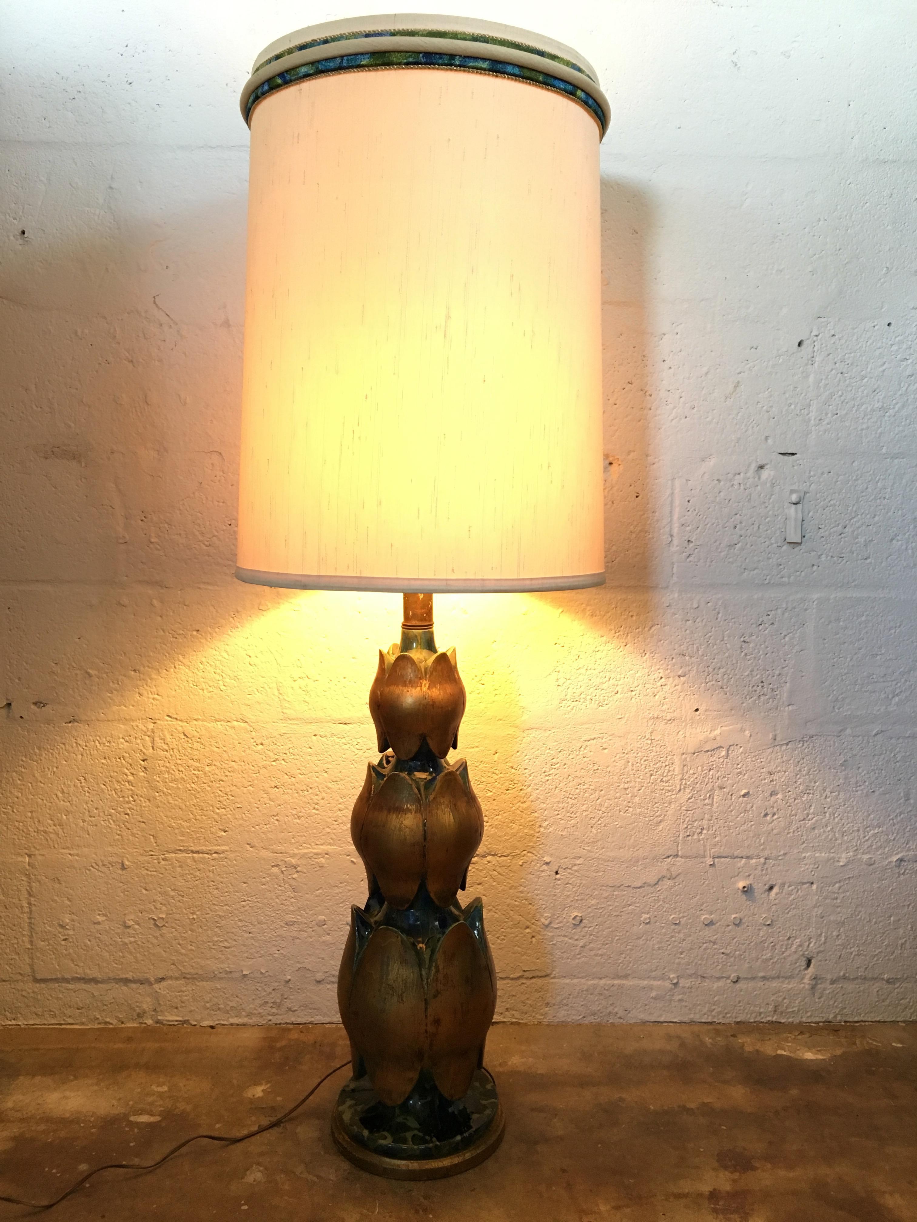 Large Scale Vintage Mid-Century Modern Table Lamp | Chairish