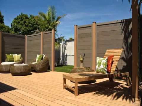 interlocking vinyl plank flooring installed outdoors