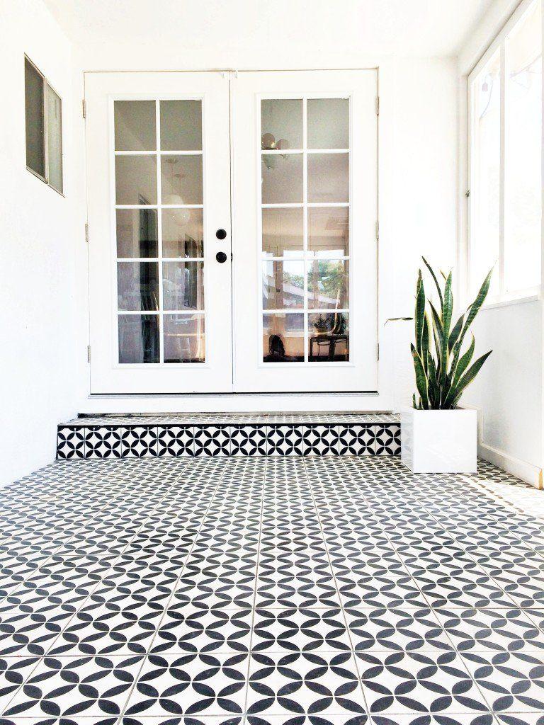 patio flooring home depot decor victorianblackandwhitemosaictilepathmetal  black and white vinyl floor tile checkered kitchen backsplash outdoor over