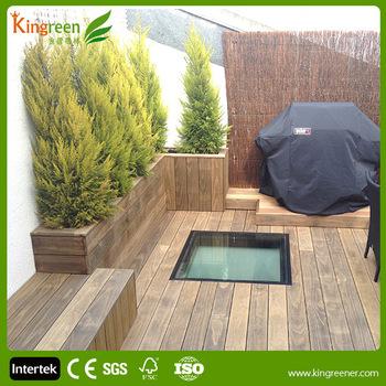 Outdoor vinyl flooring patio furniture hardwood floors Kingreen DIY  Composite Decking Enviromentaly building material