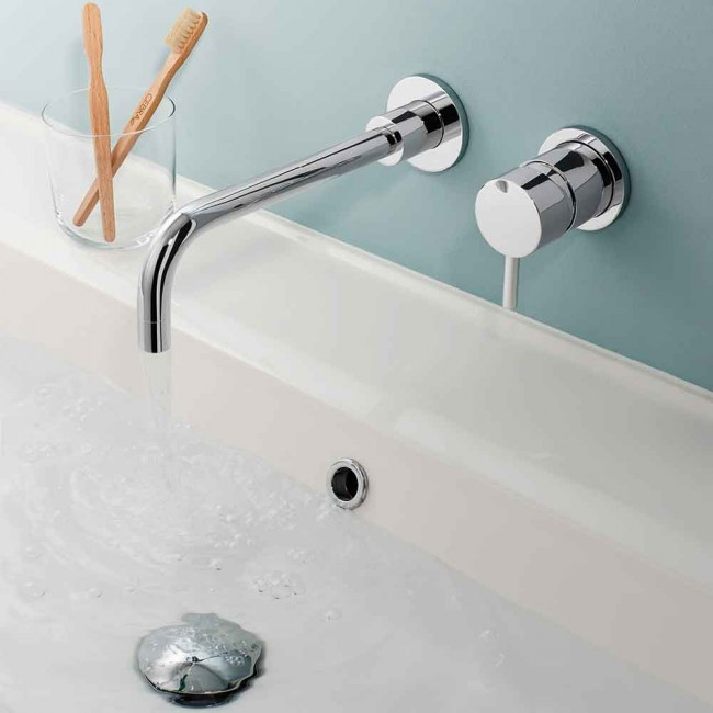 Crosswater Kai Lever Wall Mounted Basin Mixer Tap