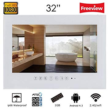 "Soulaca 32"" Android Smart White Waterproof Bathroom TV"