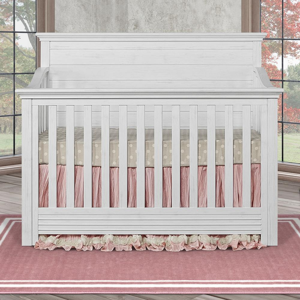 Evolur Waverly Weathered White 5 in 1 Convertible Crib