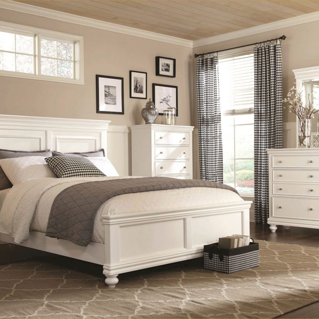 White Bedroom Set Queen, White And Brown Bedroom, King Bedroom Sets, White  Bedroom