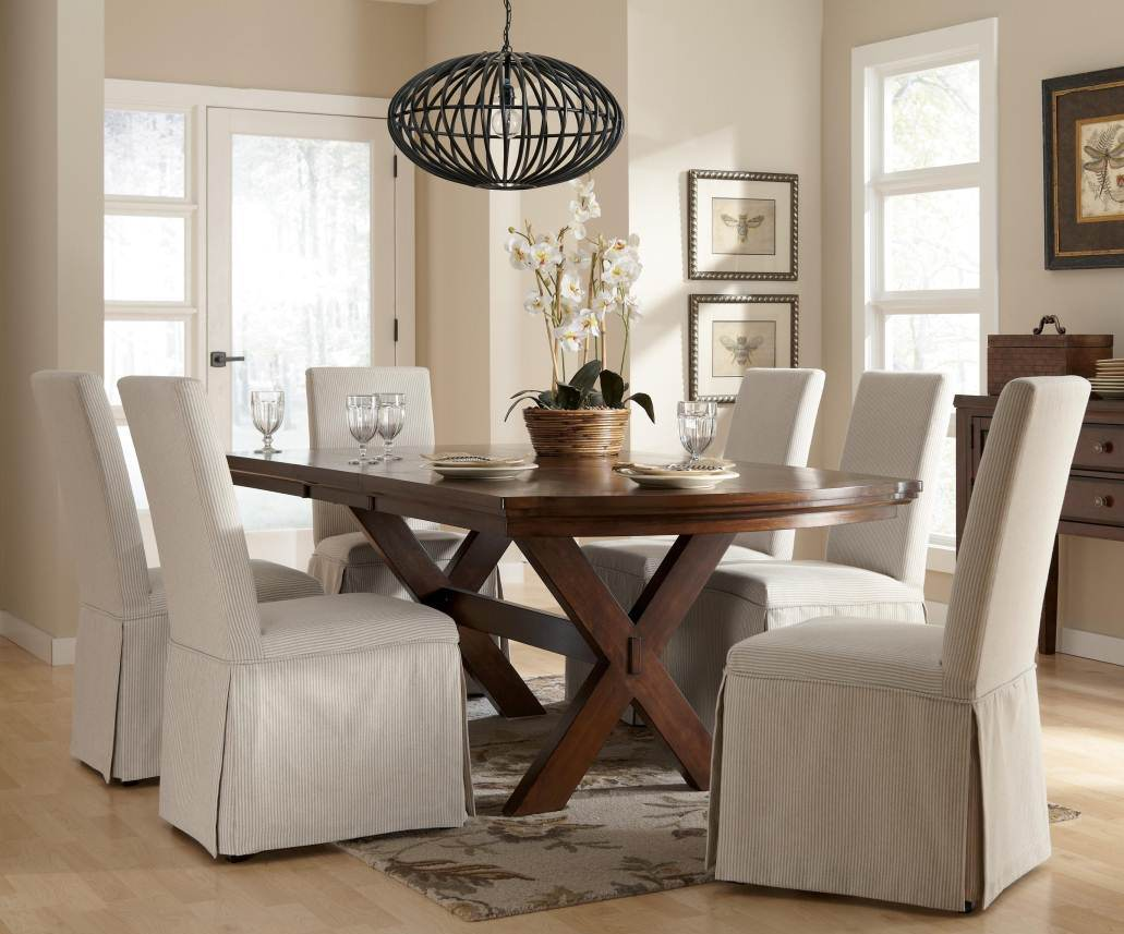 Dining Room Chair Slipcovers White Alliancemvcom Family white dining room  chair slipcovers