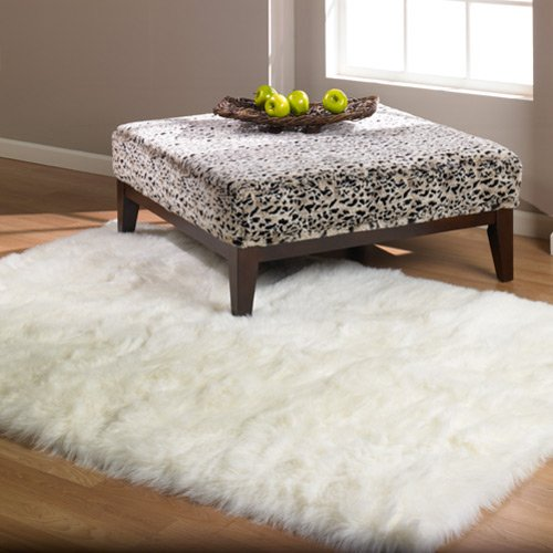 Traveller Location: Softest French White Sheepskin Faux Fur Shag Rug Feels & Looks  Real, Without Animal Cruelty. Perfect for Photographers Designers & Your  Bedroom