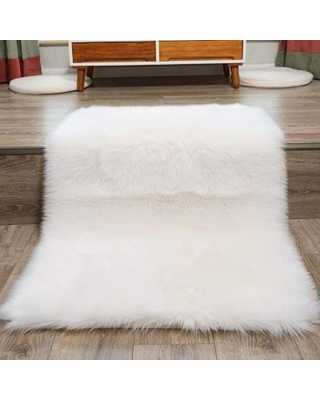 Popeven Faux Fur Rug 80 X 150 cm Decorative Soft Fluffy Rug Shaggy Rugs  Faux Sheepskin