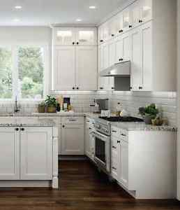 Image is loading 11-x-14-Elegant-White-Shaker-Kitchen-Cabinet-