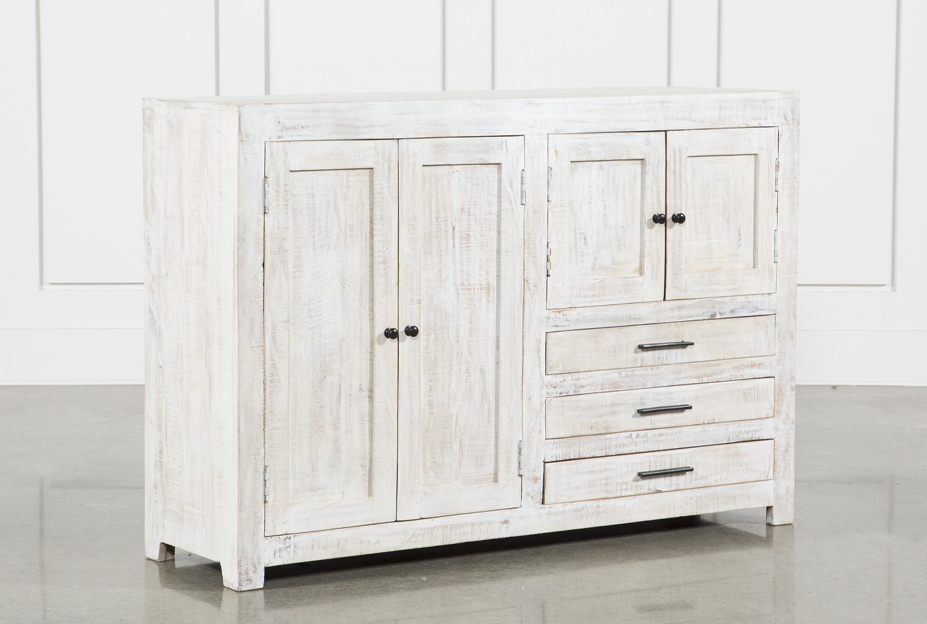 4-Door-3-Drawer White Wash Sideboard (Qty: 1) has been successfully added  to your Cart.