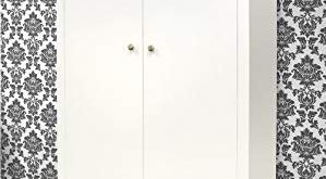 Brooklyn WHITE Double Wardrobe with 2 drawers. Large white double