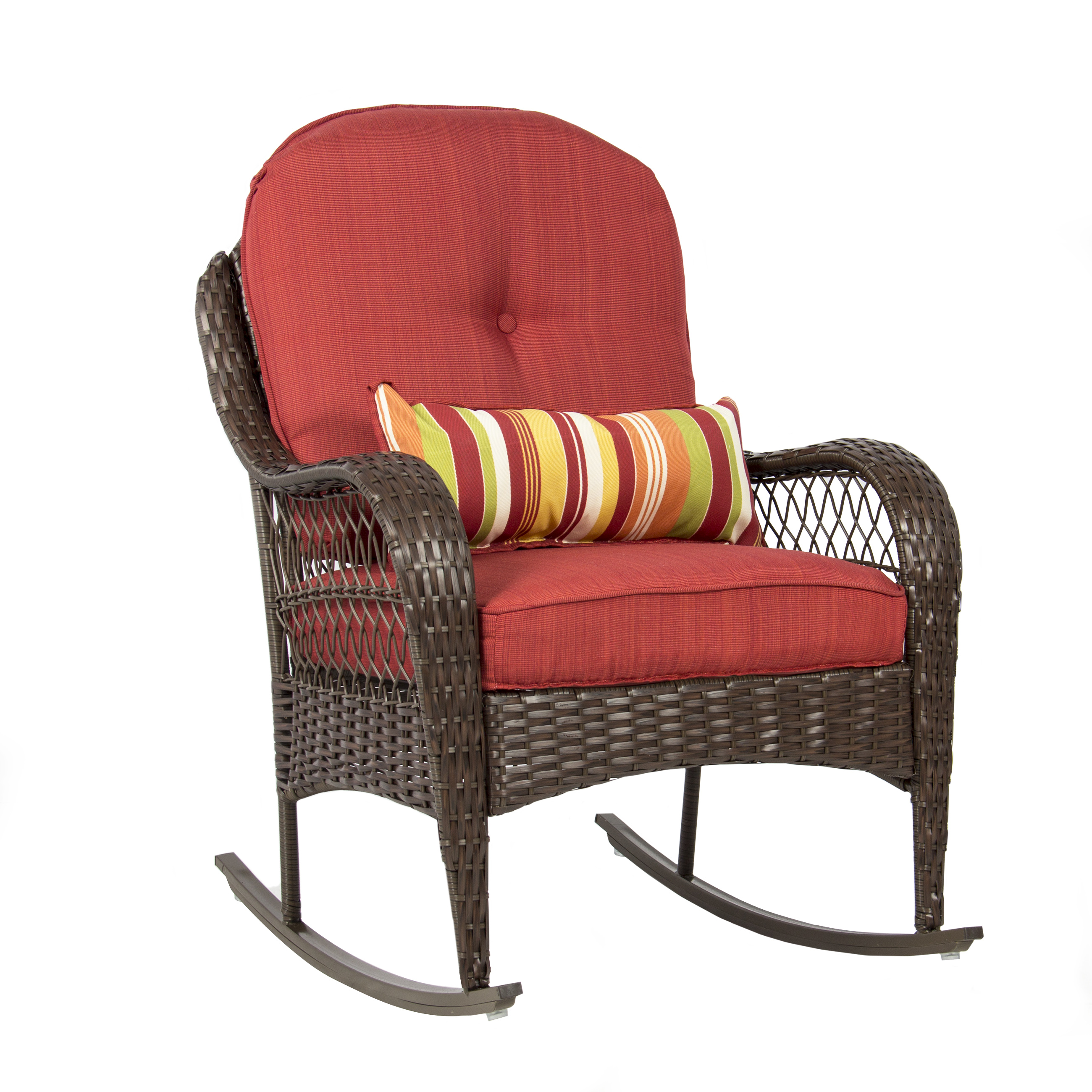 Best Choice Products Wicker Rocking Chair Patio Porch Deck Furniture All  Weather Proof W/ Cushions - Traveller Location