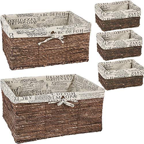 Juvale Nesting Basket - 5-Piece Utility Storage Baskets, Brown Wicker  Decorative Organizing Baskets