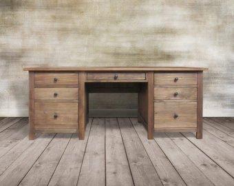 Desk, Writing Desk, Office Desk, Reclaimed Wood Desk, Computer Desk,  Handmade, Rustic